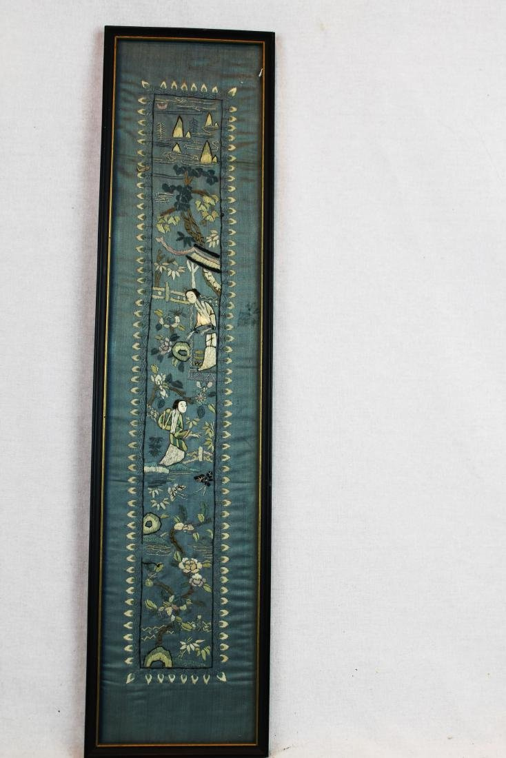 Antique Chinese Silk Panel