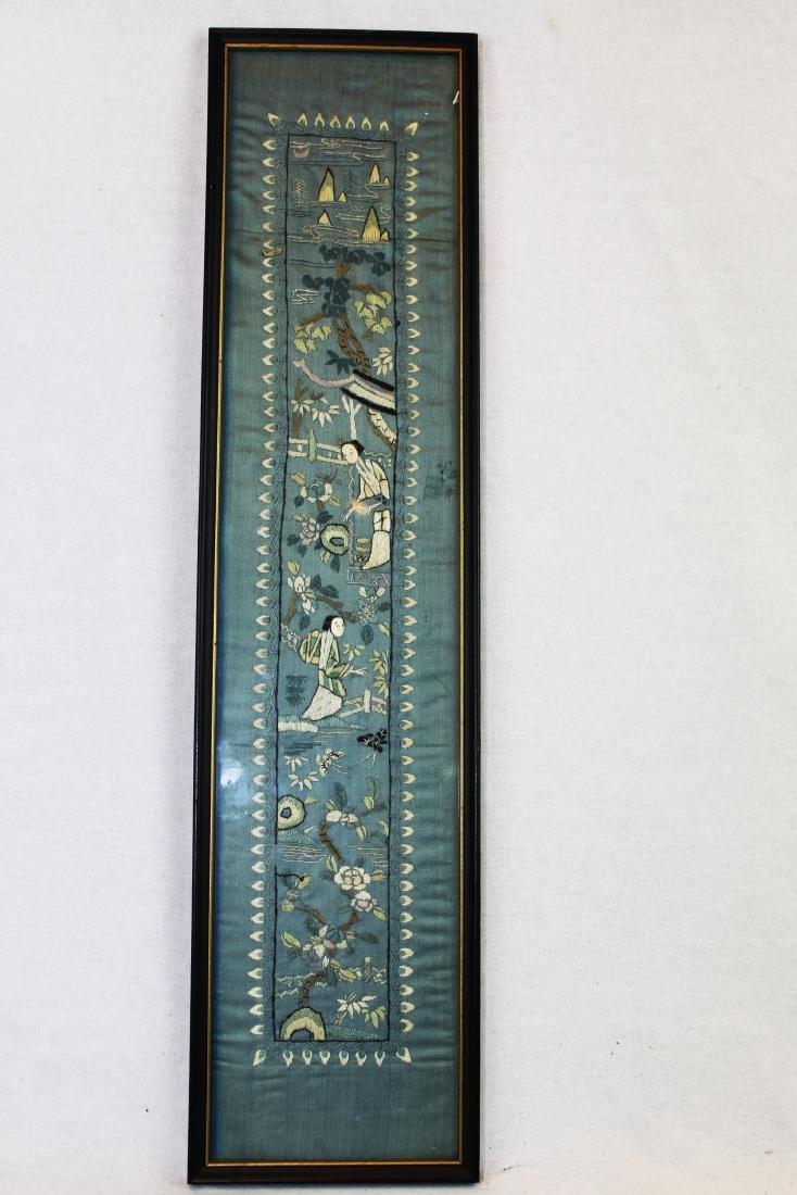 Antique Chinese Silk Panel - 2