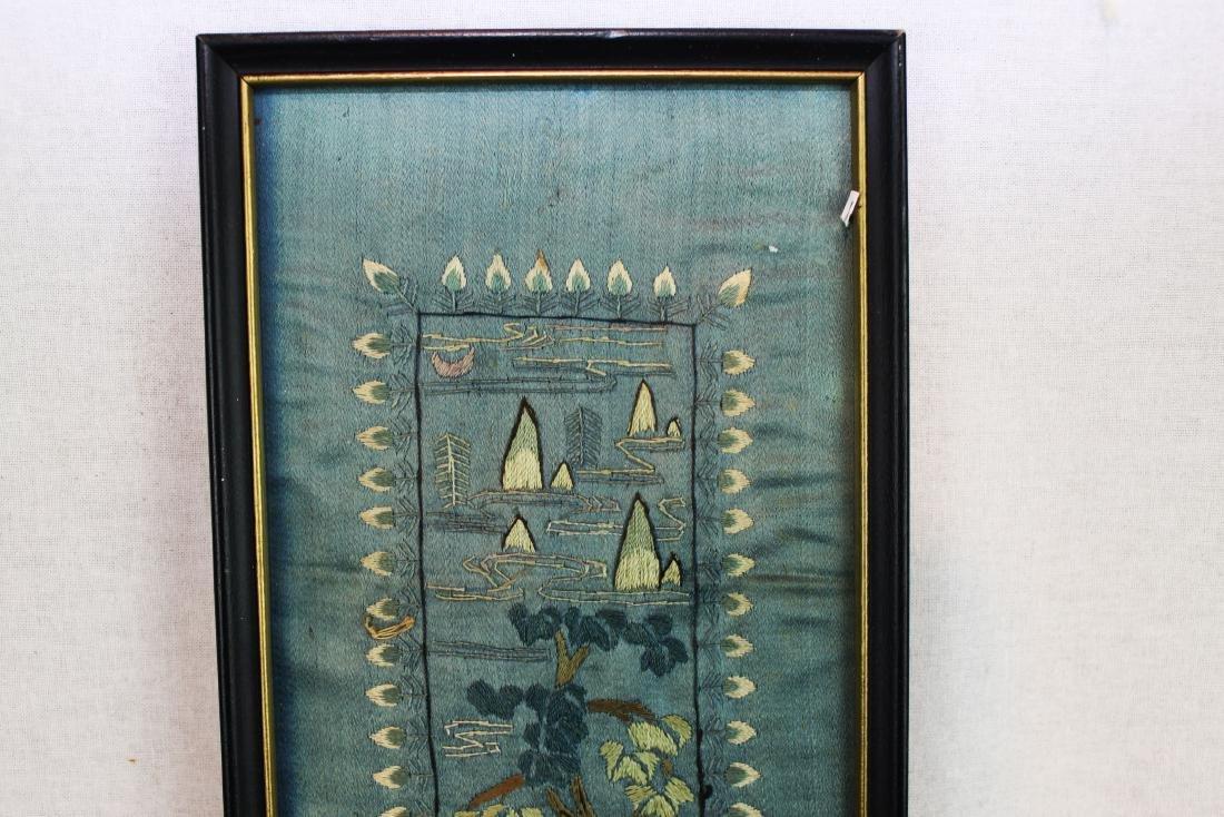 Antique Chinese Silk Panel - 3