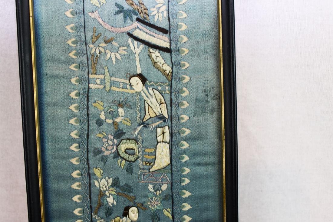 Antique Chinese Silk Panel - 4