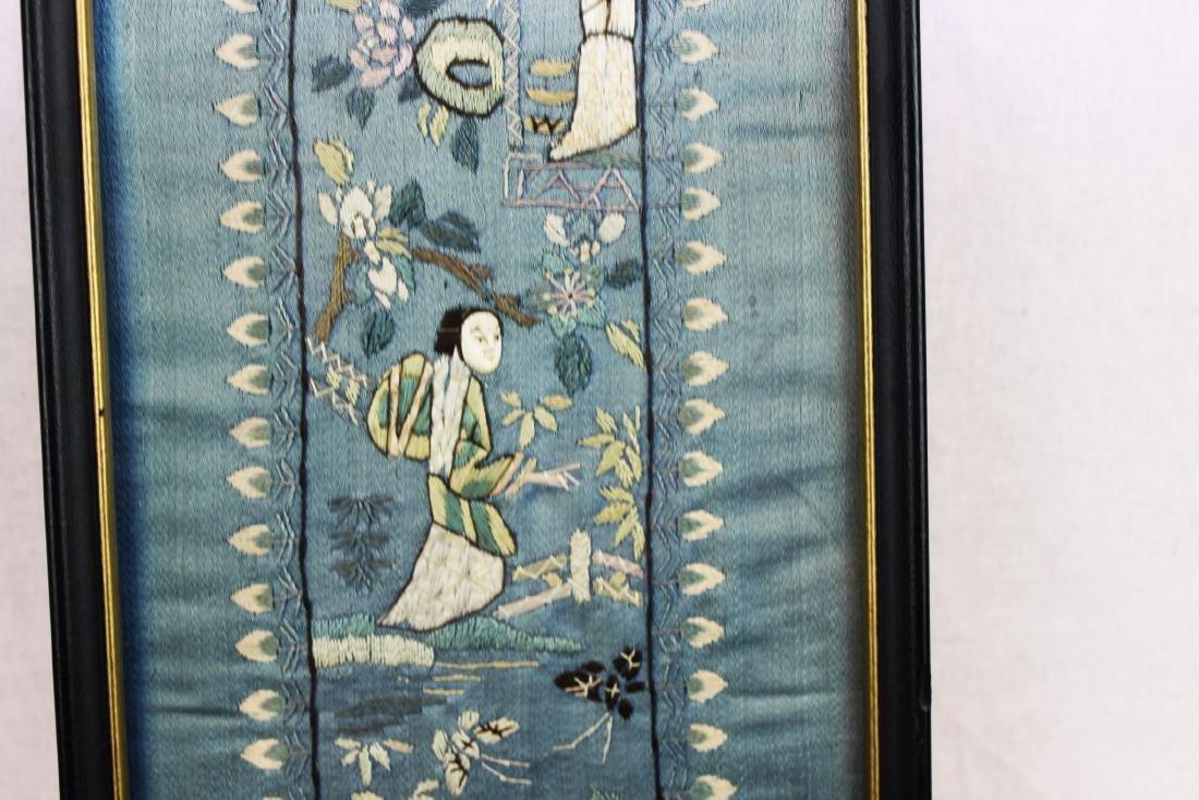 Antique Chinese Silk Panel - 5
