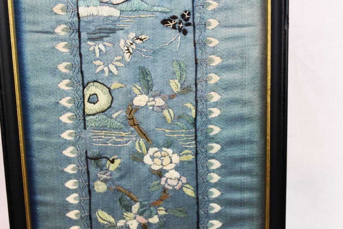 Antique Chinese Silk Panel - 6