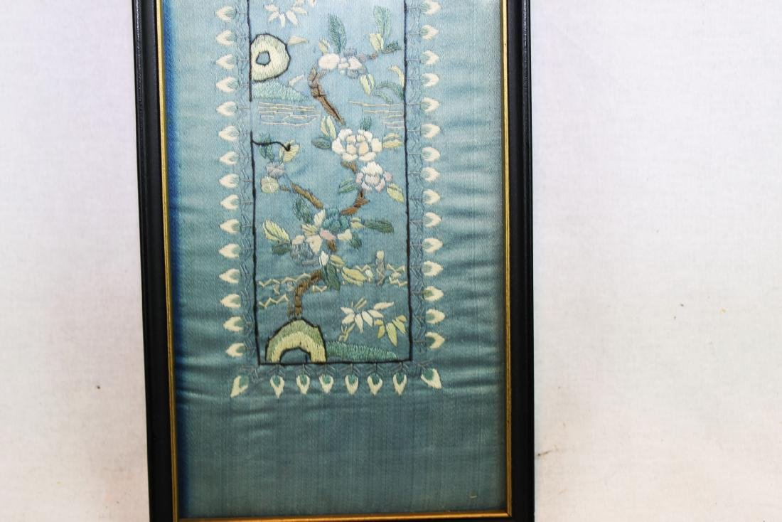 Antique Chinese Silk Panel - 7