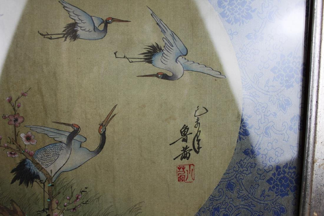 Antique Chinese Silk Painting - 5