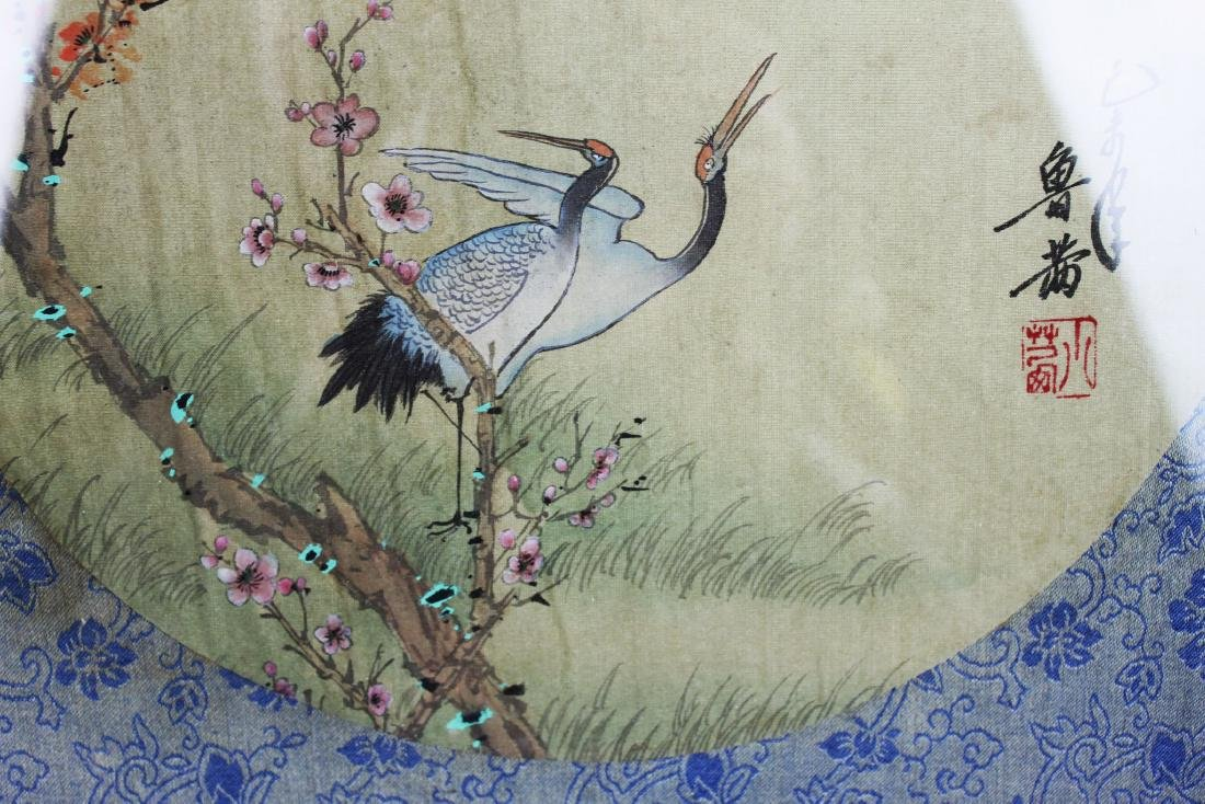 Antique Chinese Silk Painting - 7