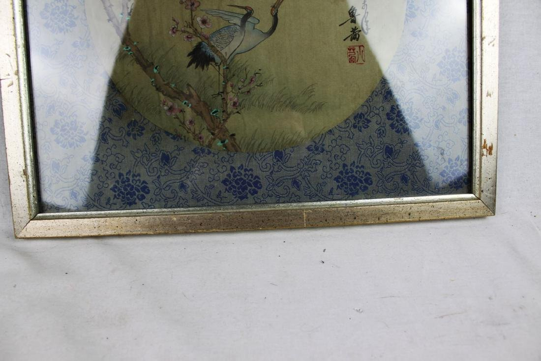 Antique Chinese Silk Painting - 8