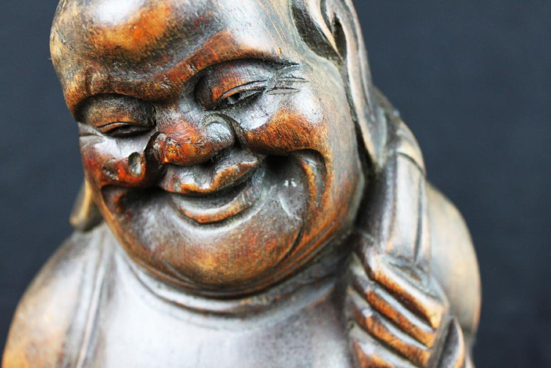 Antique Hand Carved Buddha Statue - 3