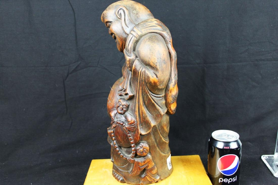 Antique Hand Carved Buddha Statue - 7