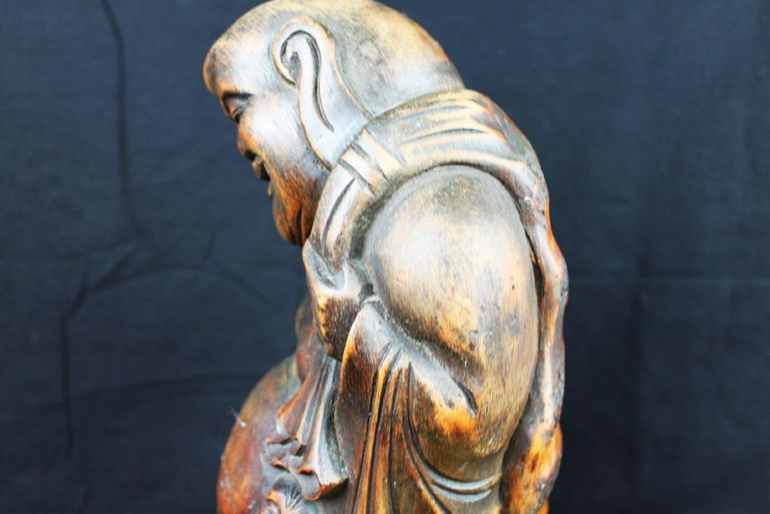 Antique Hand Carved Buddha Statue - 8