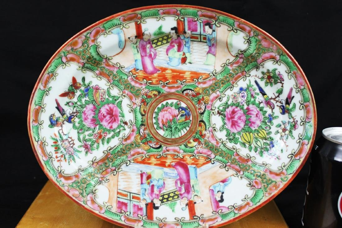 Antique Chinese Familie Rose Porcelain Plate