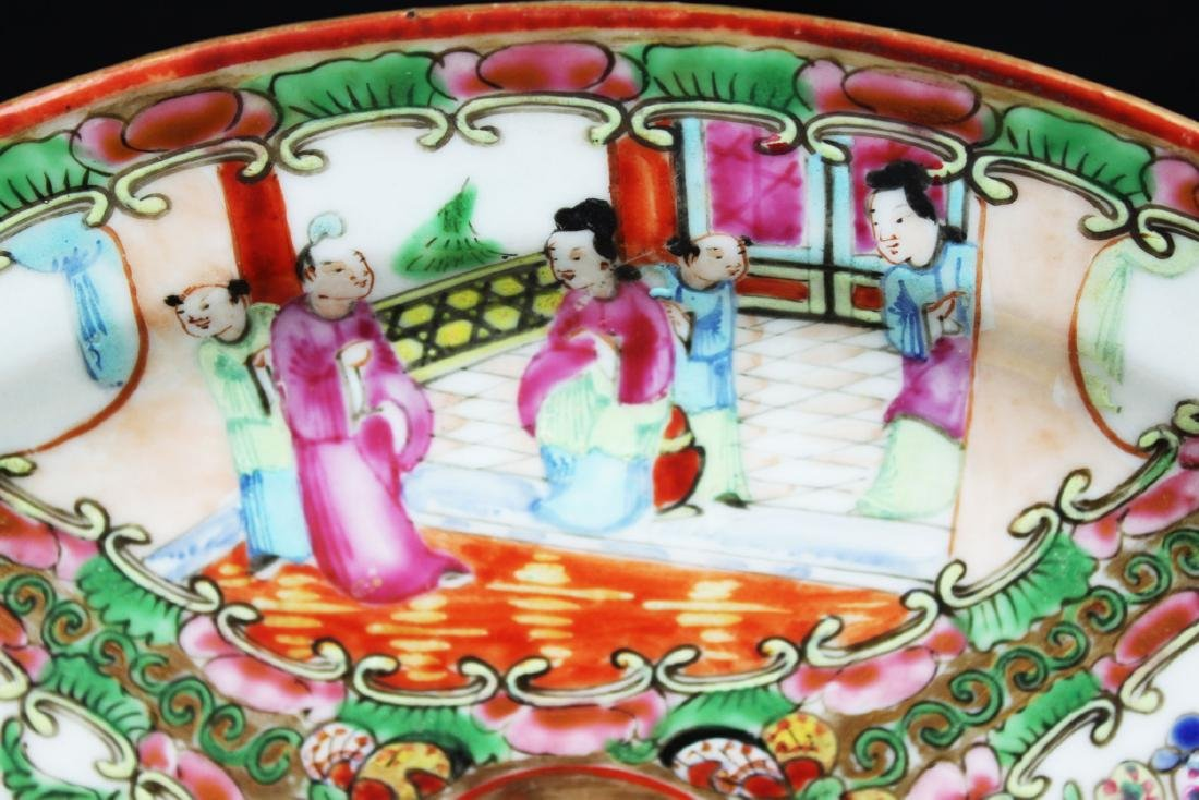 Antique Chinese Familie Rose Porcelain Plate - 2