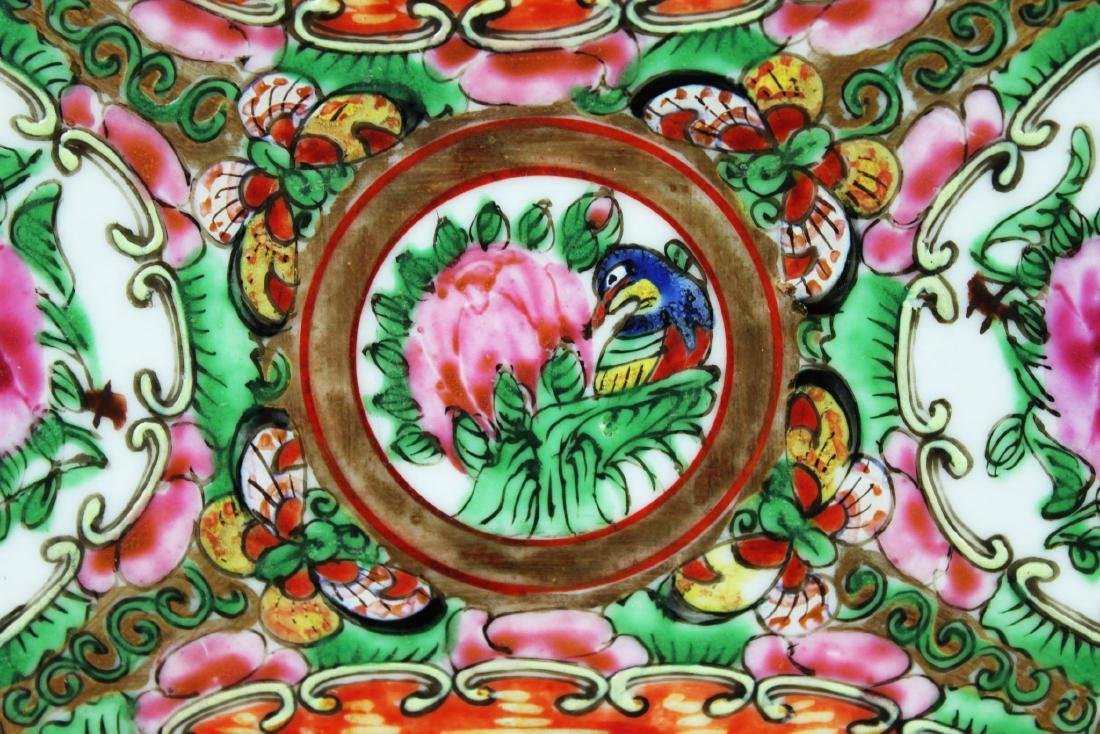 Antique Chinese Familie Rose Porcelain Plate - 3