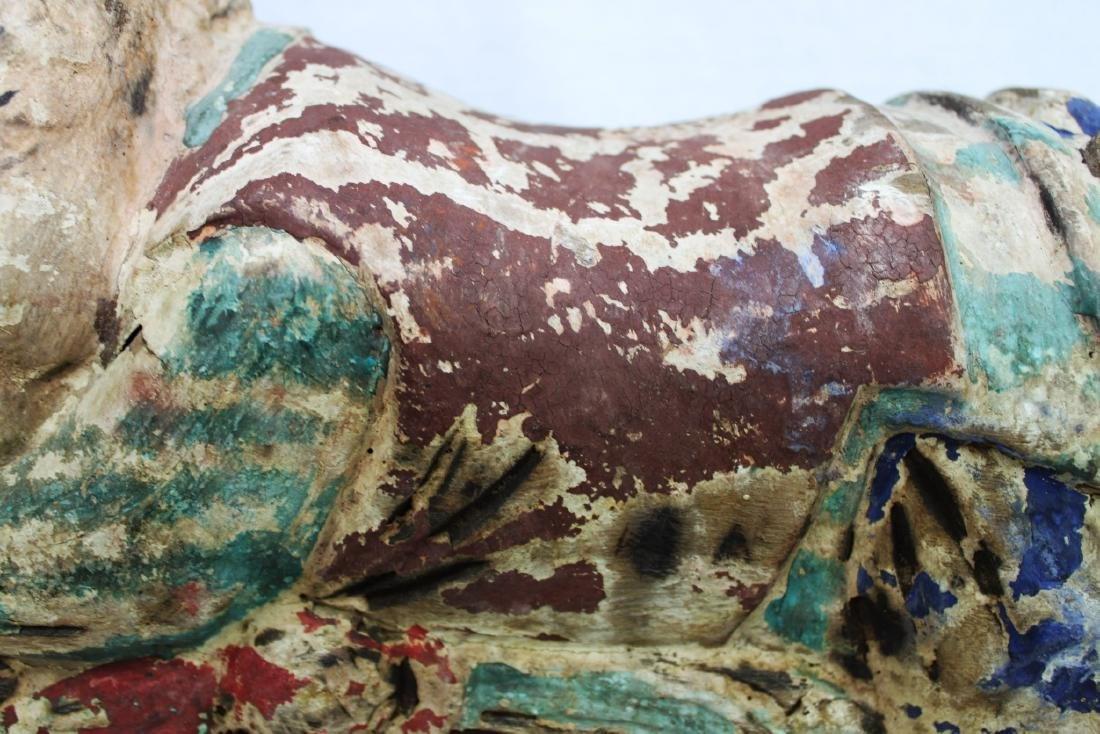 Antique Chinese Wood Pillow from 1800s - 3