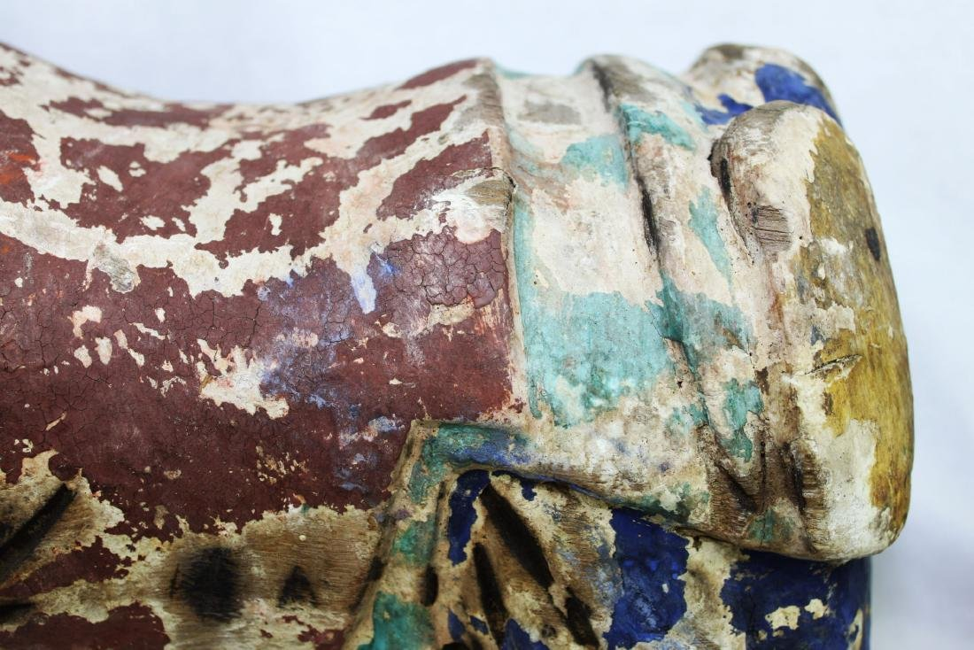 Antique Chinese Wood Pillow from 1800s - 4