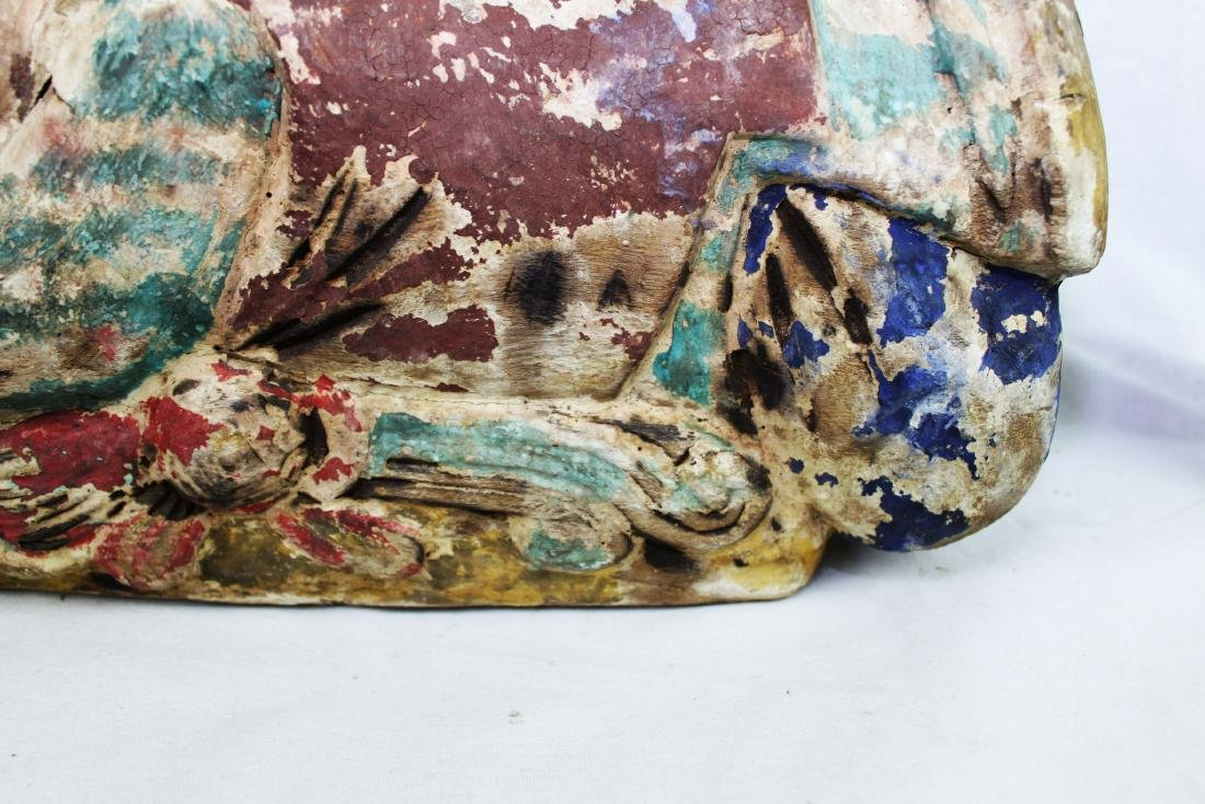 Antique Chinese Wood Pillow from 1800s - 6