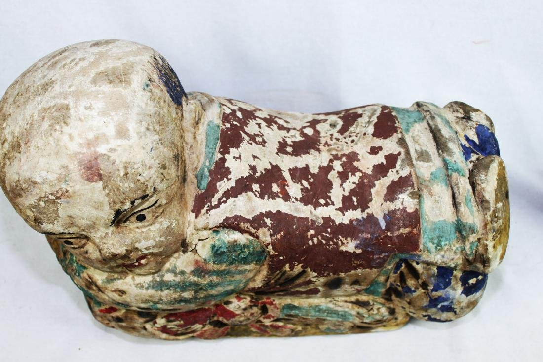 Antique Chinese Wood Pillow from 1800s - 7