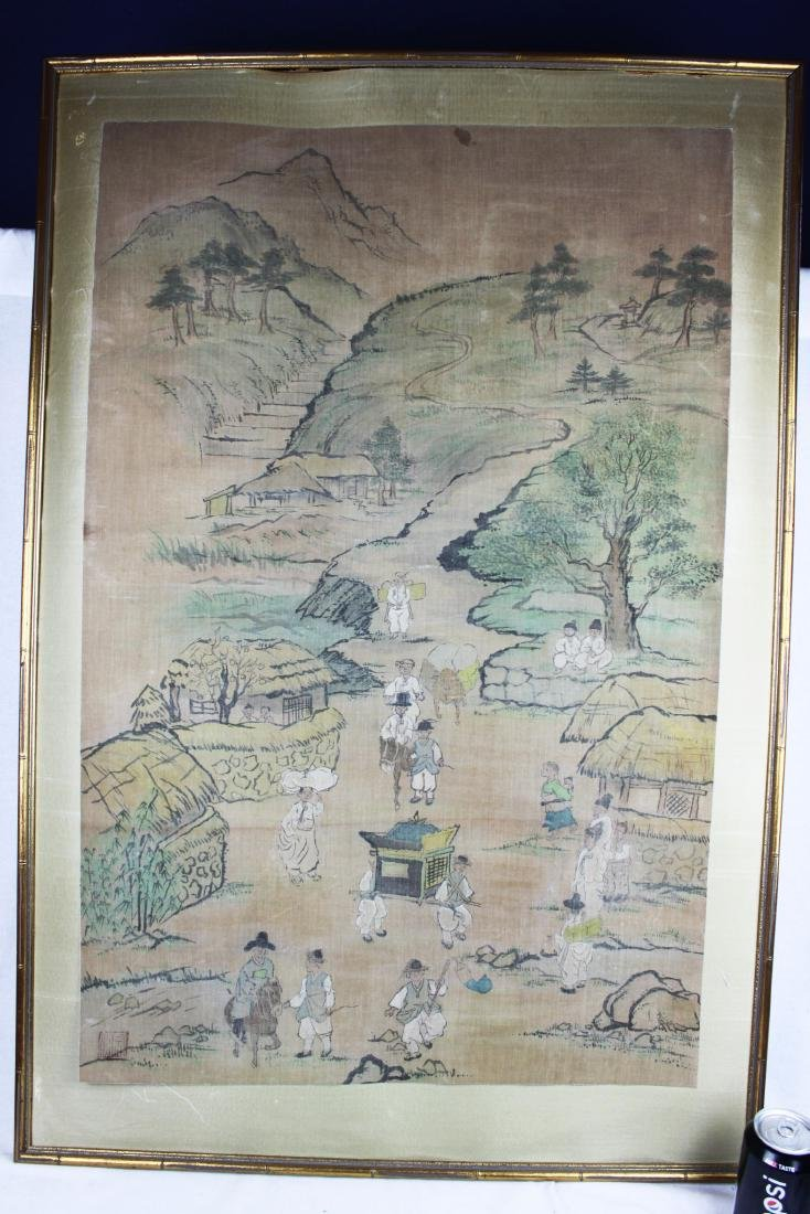 Antique Chinese Paiting on Silk Paper