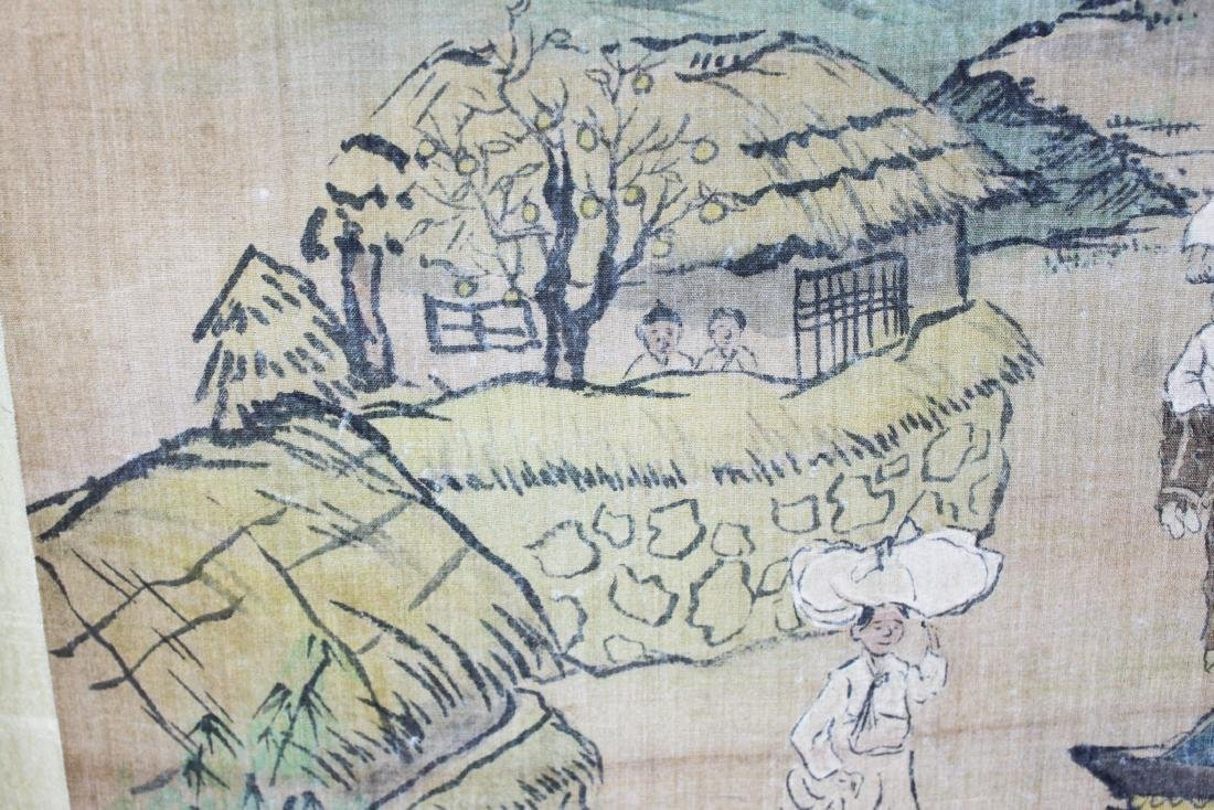 Antique Chinese Paiting on Silk Paper - 9