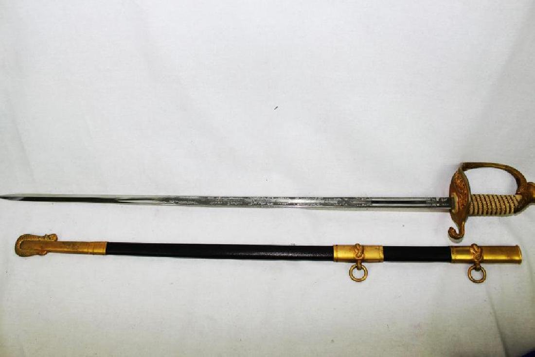 US Navy Dress Sword 20th Century - 10