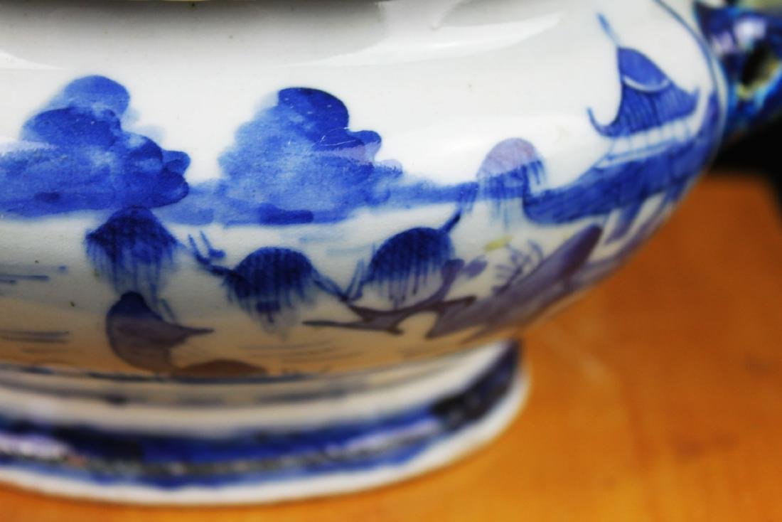 Antique Chinese Blue&White porcelain Bowl - 4