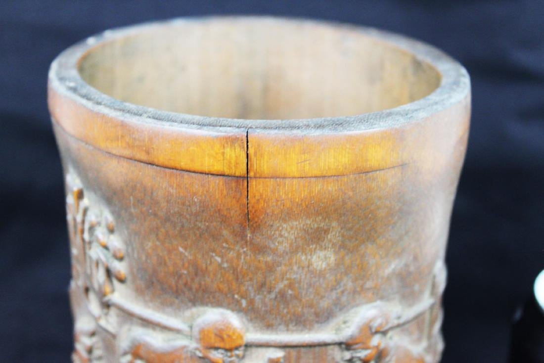 Antique Chinese Bamboo Pen Holder - 10