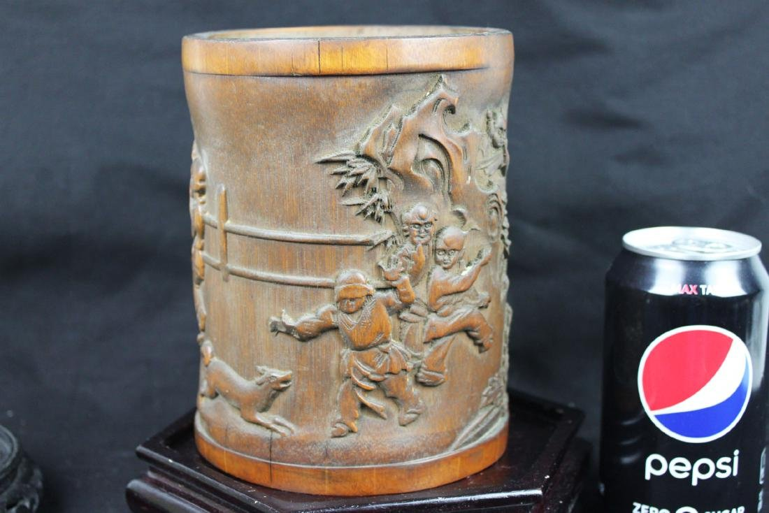 Antique Chinese Bamboo Pen Holder
