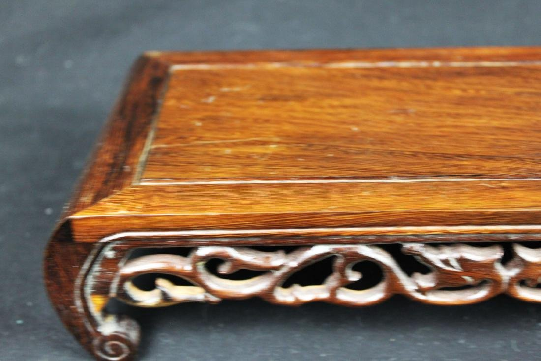 Chinese Hand Carved Wood Base - 2