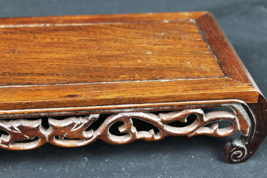 Chinese Hand Carved Wood Base - 3