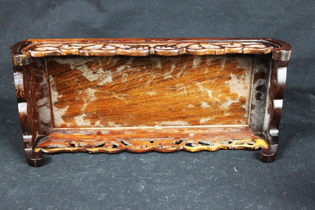 Chinese Hand Carved Wood Base - 6