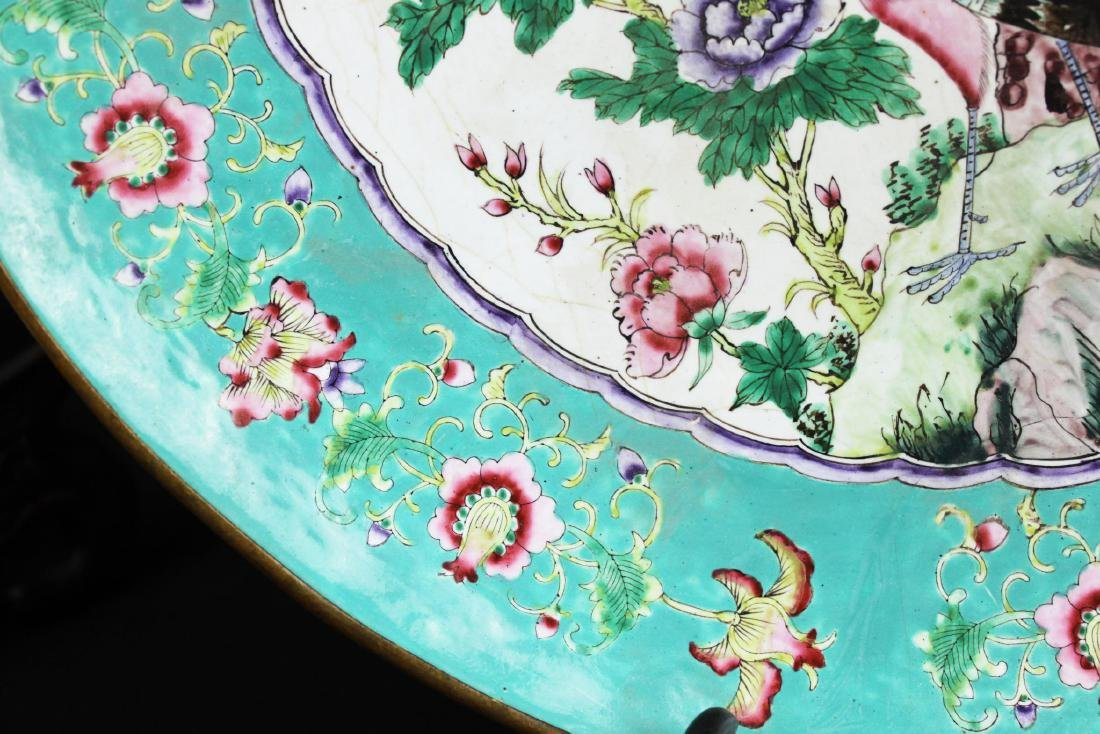Antique Wucai Porcelain Plate from 1900s - 7
