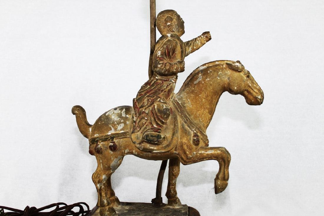 Large Antique Chinese Tang Horse Lamp - 2