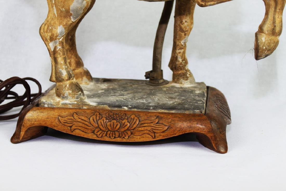 Large Antique Chinese Tang Horse Lamp - 3