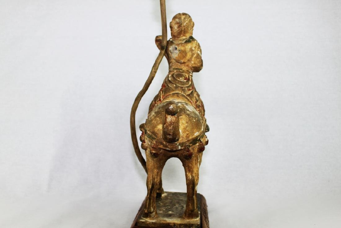 Large Antique Chinese Tang Horse Lamp - 8