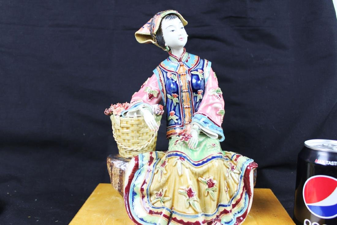 Hand Carved Chinese Porcelain Statue