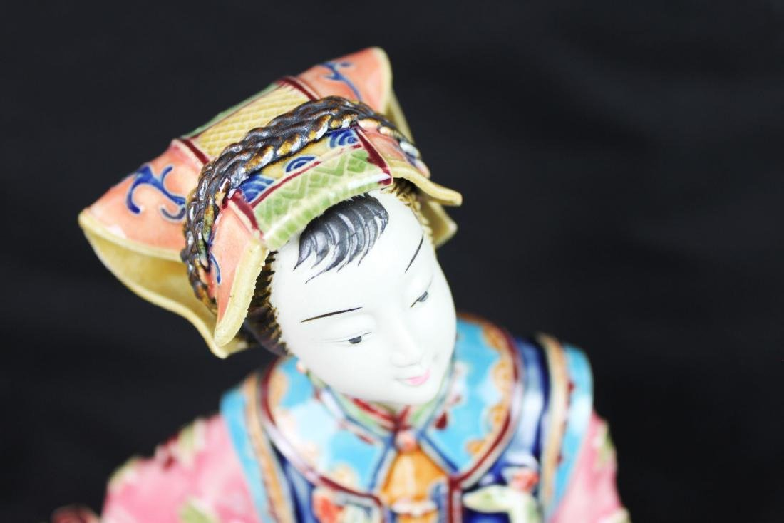 Hand Carved Chinese Porcelain Statue - 2