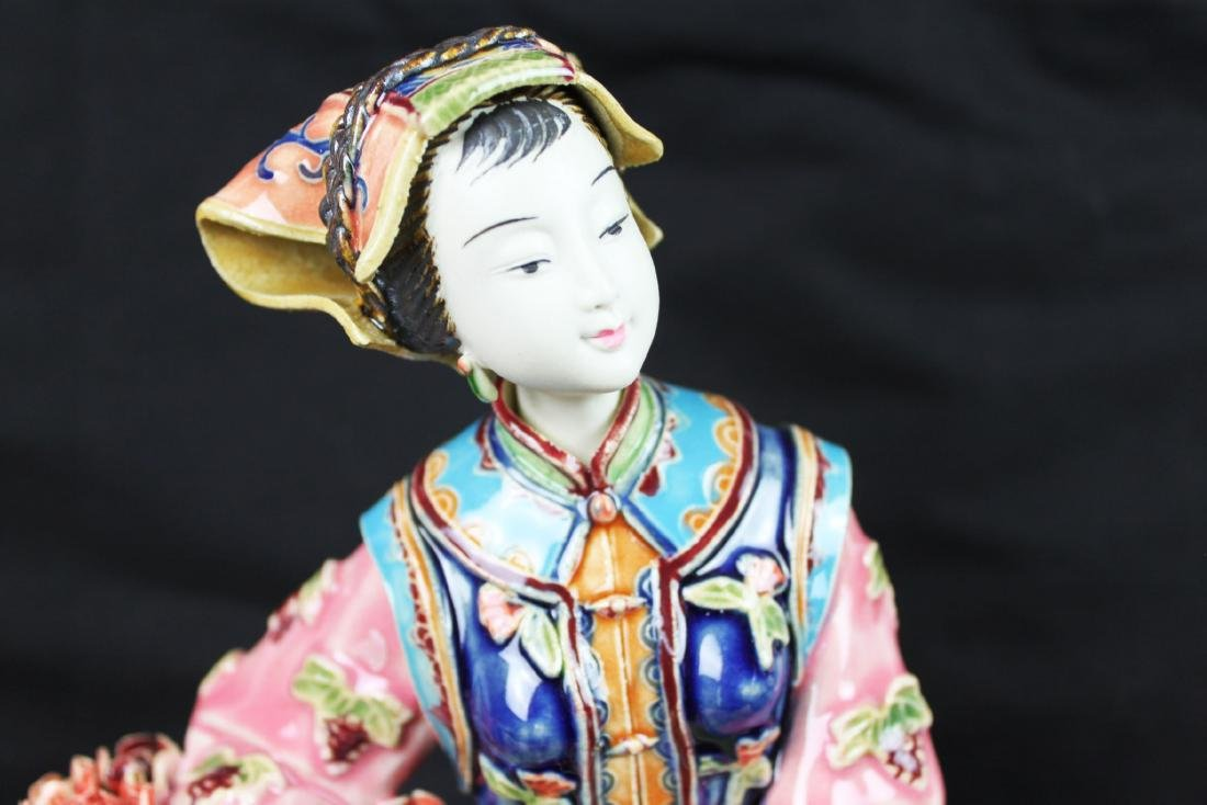 Hand Carved Chinese Porcelain Statue - 3