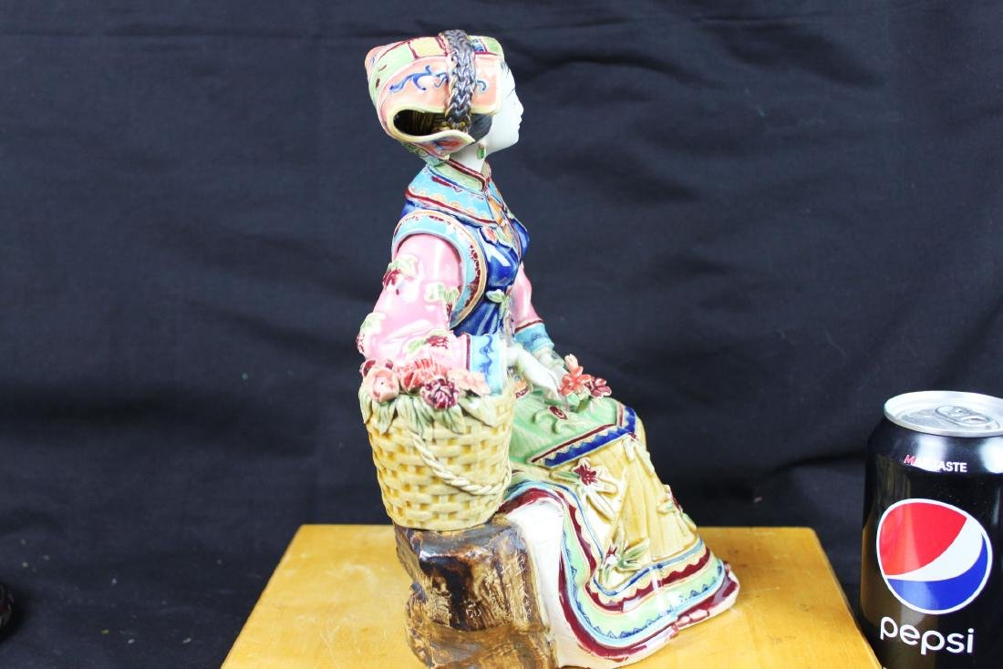 Hand Carved Chinese Porcelain Statue - 7