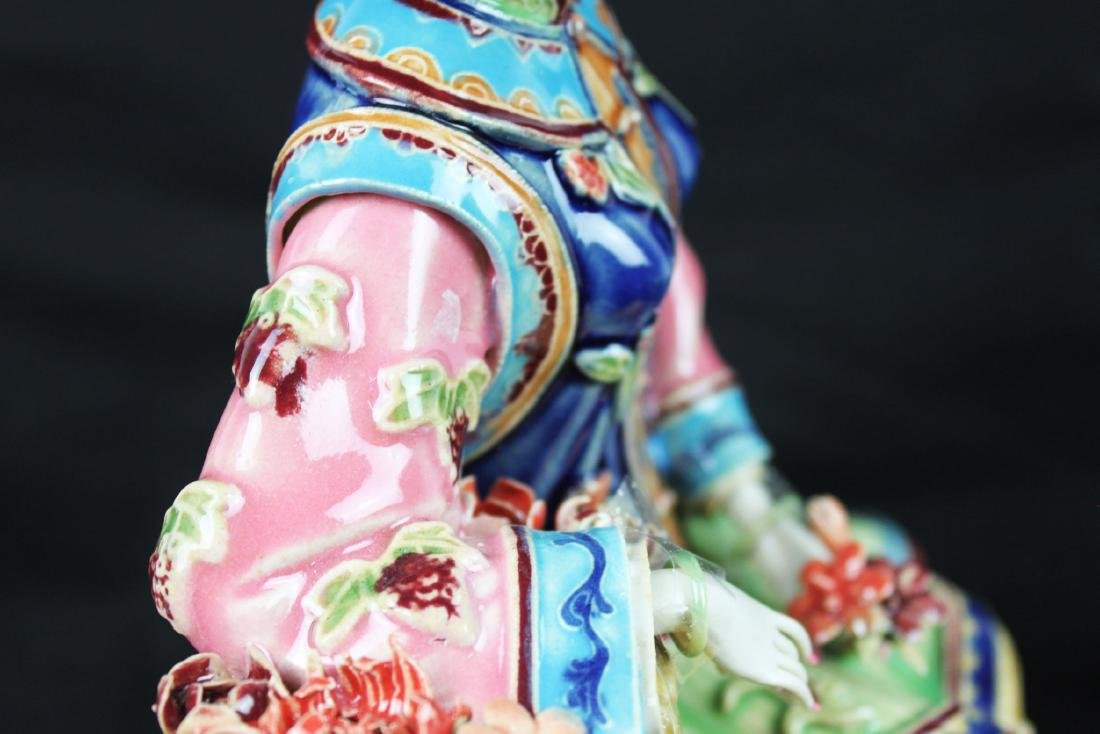Hand Carved Chinese Porcelain Statue - 9