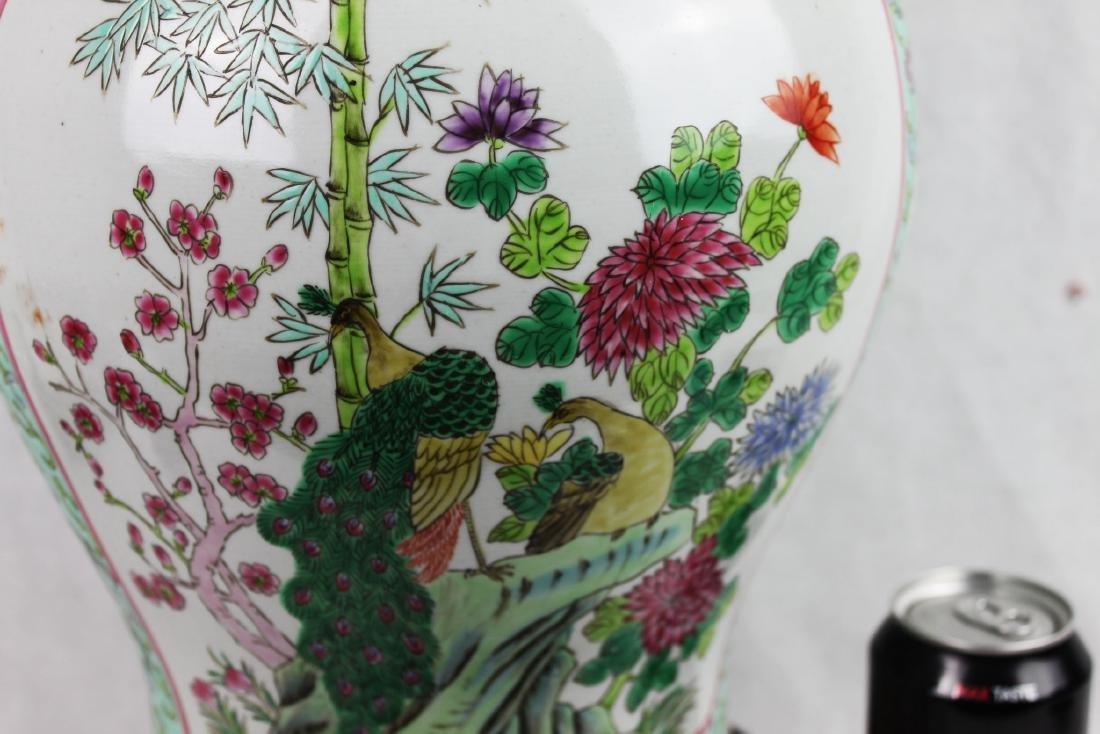 Antique Large Chinese Famillie Rose Porcelain Vase - 10