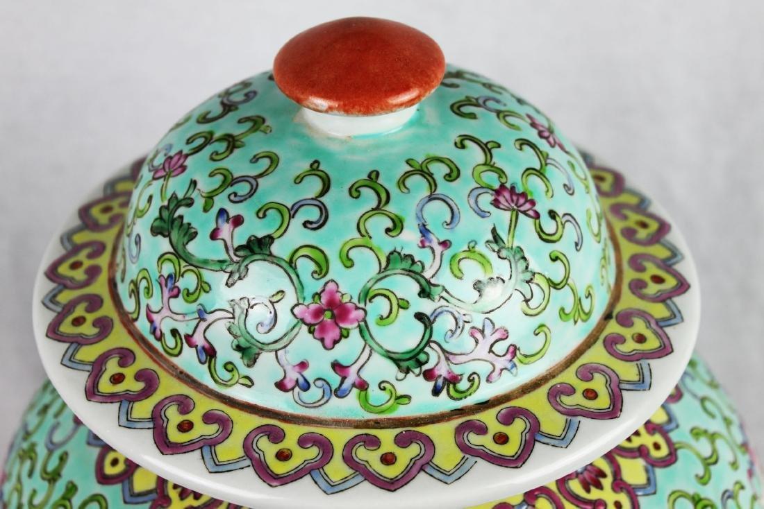 Antique Large Chinese Famillie Rose Porcelain Vase - 2