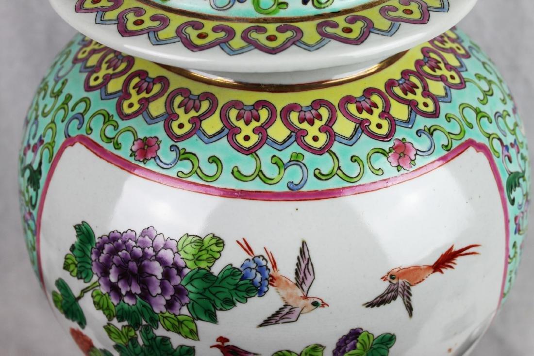Antique Large Chinese Famillie Rose Porcelain Vase - 3