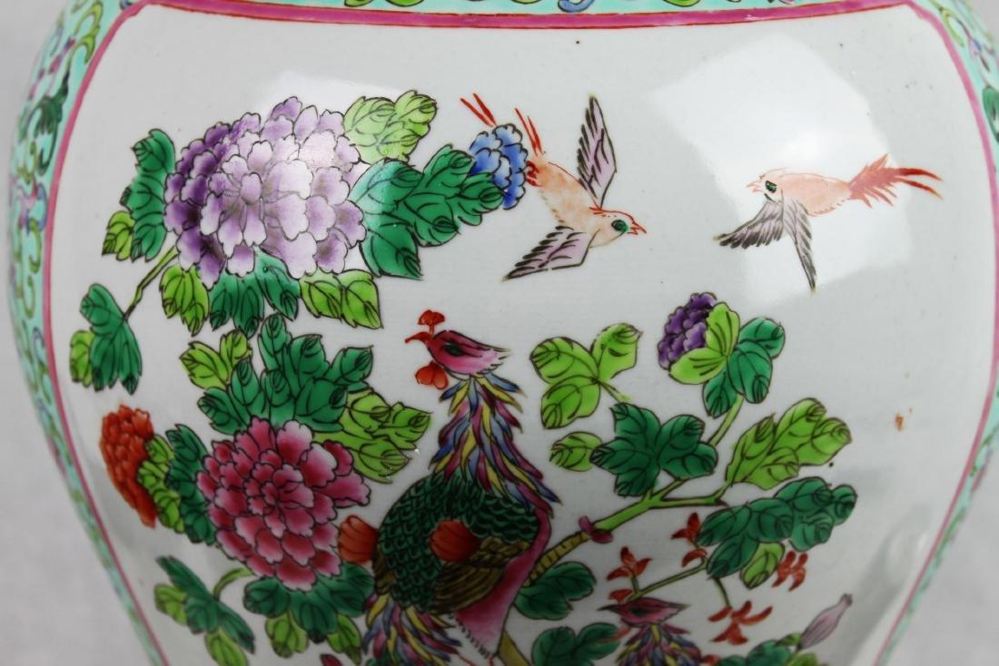 Antique Large Chinese Famillie Rose Porcelain Vase - 4