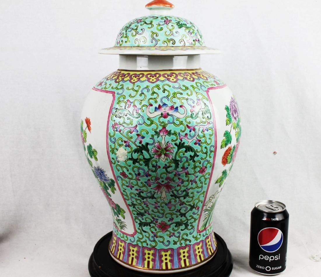 Antique Large Chinese Famillie Rose Porcelain Vase - 6