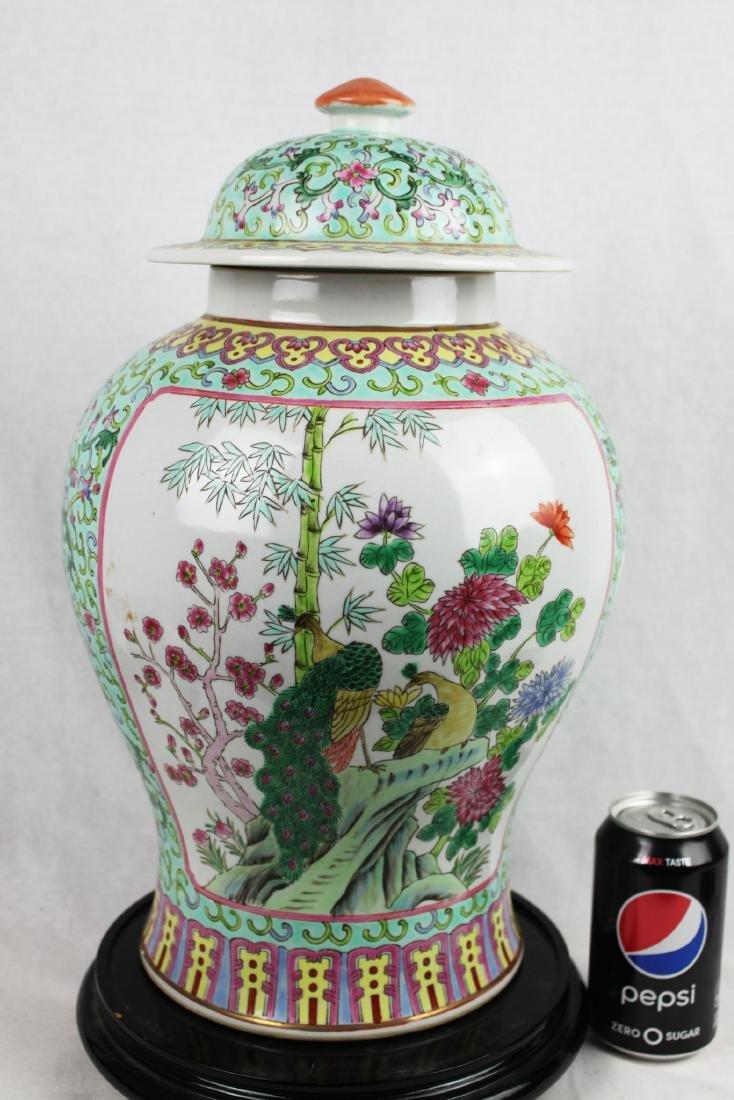 Antique Large Chinese Famillie Rose Porcelain Vase - 7