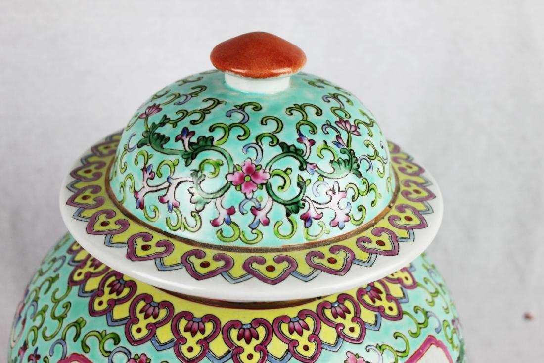 Antique Large Chinese Famillie Rose Porcelain Vase - 8