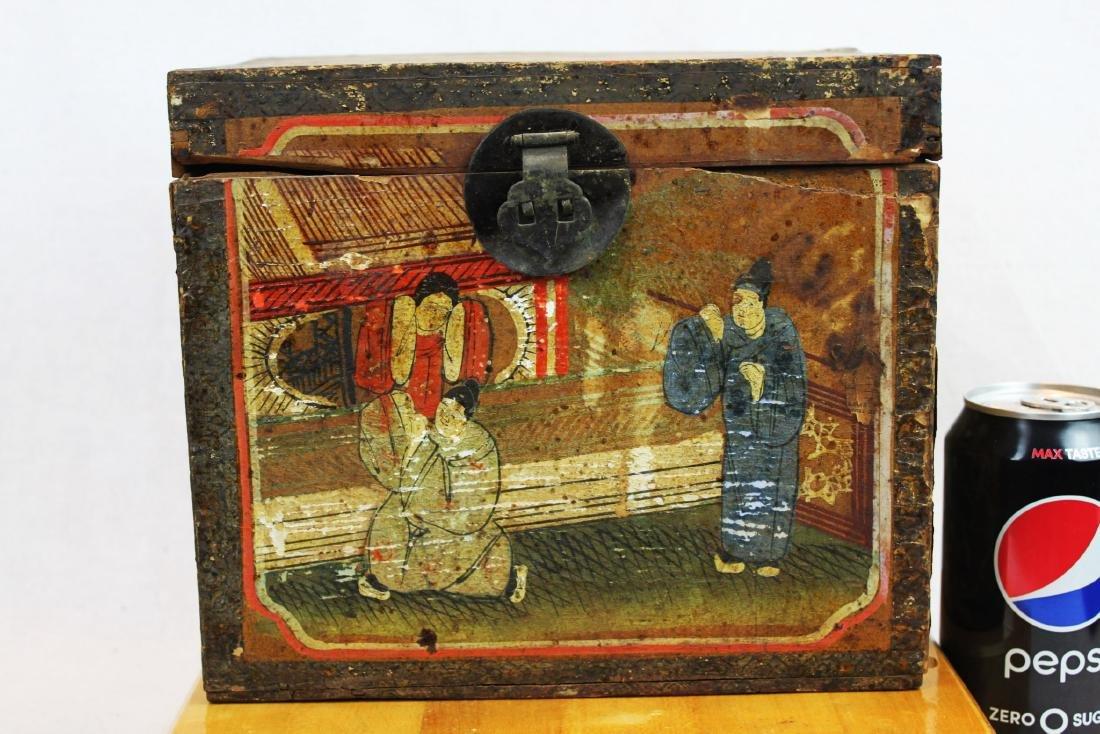 Antique Chinese Storage Box w/Bronze lock