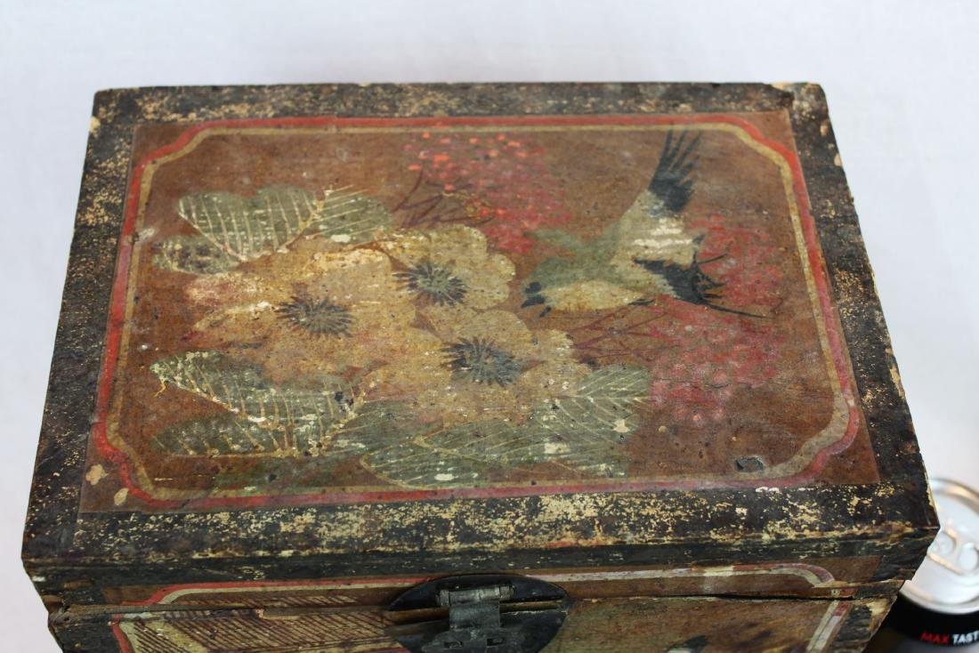 Antique Chinese Storage Box w/Bronze lock - 2