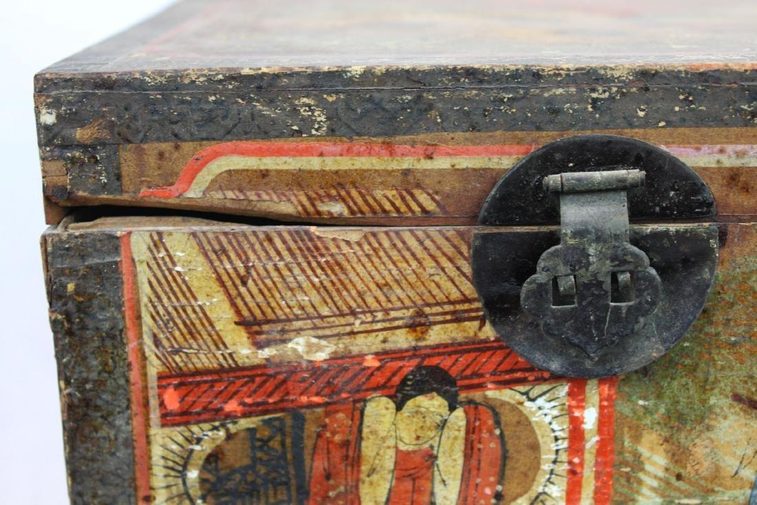 Antique Chinese Storage Box w/Bronze lock - 3