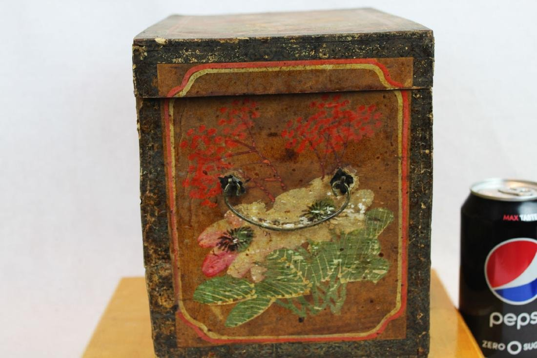 Antique Chinese Storage Box w/Bronze lock - 5