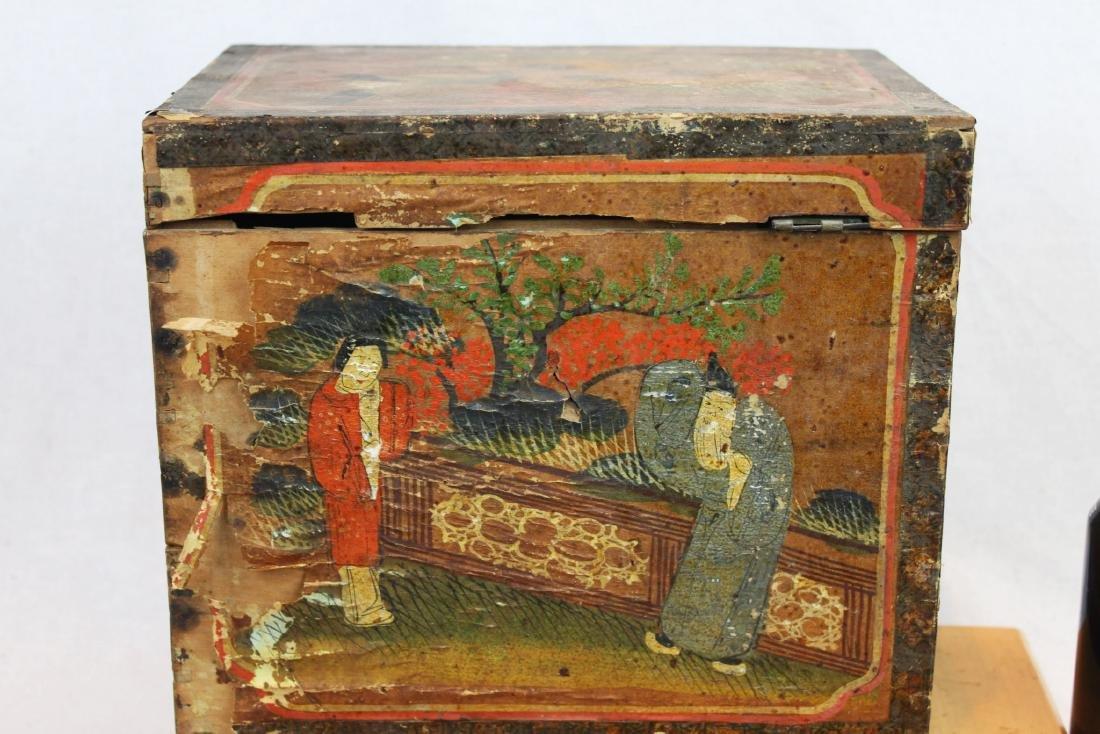 Antique Chinese Storage Box w/Bronze lock - 7
